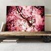 Big Box Art Pink Cherry Blossom Tree Flowers Photographic Print on Canvas