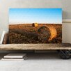 Big Box Art Landscape Hay Bales on a Field Photographic Print on Canvas