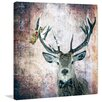 """Marmont Hill """"Buck Prince"""" by Morgan Jones Graphic Art on Wrapped Canvas"""