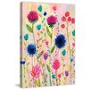 "Marmont Hill ""Thistle"" by Sascalia Painting Print on Wrapped Canvas"