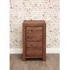 Baumhaus Mayan Walnut 2-Drawer Vertical Filing Cabinet