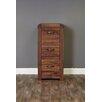 Baumhaus Shiro Walnut Range 3-Drawer Vertical Filing Cabinet