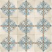 "EliteTile Artisanal 13"" x 13"" Ceramic Patterned/Field Tile in Azul/Beige"