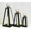 Noor Living 3 Piece Metal Lantern Set
