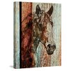 Marmont Hill 'Orange Horse' by Irena Orlov Painting Print on Wrapped Canvas