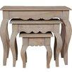 Hazelwood Home Bridgette 3 Piece Nest of Tables