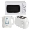 Igenix 20L 700W Countertop Microwave with Kettle and 2 Slice Toaster in White