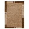 Hazelwood Home Handgeknüpfter Teppich in Braun