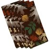 Loon Peak Shelburne Watercolor Leaves Floral Print Napkin (Set of 4)