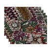 World Menagerie Echo Zentangle Floral Print Placemat (Set of 4)