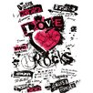 Spiegelprofi GmbH Love Rocks Typography on Canvas