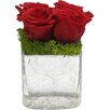Bougainvillea Reindeer Moss and Rose Cracked Cube