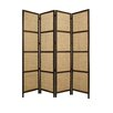 "Screen Gems 96"" x 80"" Braided Rope 4 Panel Room Divider"