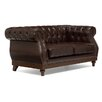 Home Etc Highgrove Genuine Leather 2 Seater Loveseat