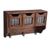 Cheungs Wooden 3 Hook and 3 Top Drawers with Accent Wall Mounted Coat Rack
