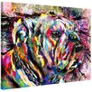 Marmont Hill 'Bulldog Colours' by Ryan Rabbass Graphic Art on Wrapped Canvas