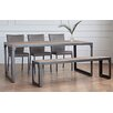 OutAndOutOriginal Kora Dining Table Dining Table and 3 Chairs with 1 Bench
