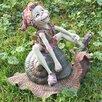Castleton Home Statue Pixie Riding A Snail