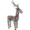 Parcel in the Attic Christmas Wicker Standing Reindeer Lighted Display