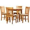 ClassicLiving Essgruppe Lincklaen mit ausziehbarem Tisch und 4 Stühlen