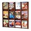 Wooden Mallet 12 Pocket Magazine Wall Display