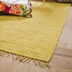 Riley Ave. Handwoven Cotton Yellow Rug
