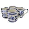 Le Souk Ceramique Azoura Stoneware Coffee Mug (Set of 4)
