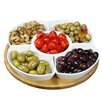 Elama Signature 6 Piece Lazy Susan Appetizer and Condiment Server Set
