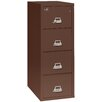 FireKing Fireproof 4-Drawer 2-Hour Rated Vertical File Cabinet