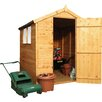 Mercia Garden Products 5 x 7 Wooden Shiplap Apex Storage Shed