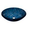 Novatto Marmo Glass Circular Vessel Bathroom Sink