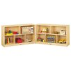 Jonti-Craft Low Folding 10 Compartment Shelving Unit with Casters