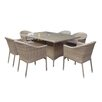 Hokku Designs Dakota 6 Seater Dining Set with Cushions