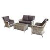 Hokku Designs Mary 4 Seater Sofa Set with Cushions