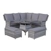 Hokku Designs Mary 8 Seater Dining Set with Cushions