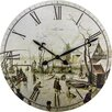 NeXtime Home 50cm Scene on Ice Near Town Wall Clock
