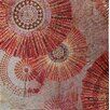 Vintage Boulevard Sequined Mandalas III Wall Art on Canvas in Red