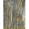 Vintage Boulevard Scene in Gold and Silver I Wall Art on Canvas