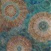 Vintage Boulevard Sequined Mandalas in Blue Sea II Wall Art on Canvas