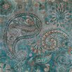 Vintage Boulevard Sequined Paisley Wall Art on Canvas