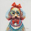 Vintage Boulevard Dog with Glases II Wall Art on Canvas