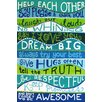 """Marmont Hill """"Family Rules II"""" by Nicola Joyner Typography Canvas Art"""