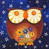 "Marmont Hill ""Daisy Eyed Owl"" by Nicola Joyner Painting Print Canvas Art"
