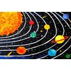 "Marmont Hill ""Solar System Black"" by Nicola Joyner Painting Print Canvas Art"