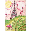 """Marmont Hill """"Paris in Pink"""" by Nicola Joyner Painting Print Canvas Art"""