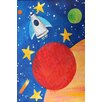 "Marmont Hill ""Red Planet Rocket"" by Nicola Joyner Painting Print Canvas Art"