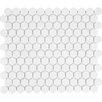 "Sail 1"" x 1"" Ceramic/Porcelain Mosaic Tile in White"