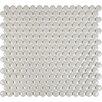 "Sina 0.75"" x 0.75"" Ceramic/Porcelain Mosaic Tile in Porpoise"