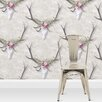 Wildon Home George the Stag Statement 10m L x 52cm W Floral and Botanical Roll Wallpaper