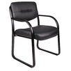 Symple Stuff Leather Guest Chair with Scratch Resistant Finish